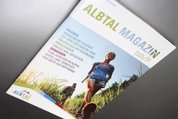 infarbe-Design Werbeagentur, Albtal Magazin 2013/14