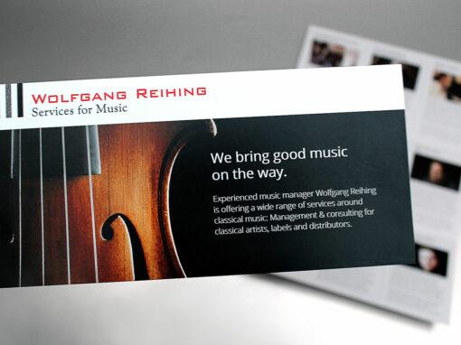 Services for Music, Faltblatt