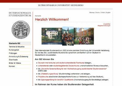 Internationales Studienzentrum, Uni Heidelberg