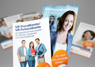 Faltblätter Kontomodelle, Volksbank