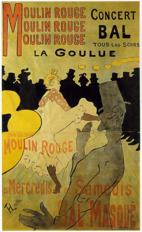 Grafikdesign im Wandel der Zeit: Plakat von Henri de Toulouse-Lautrec