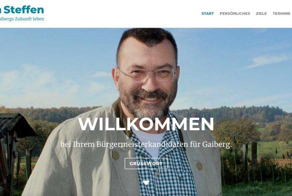 Bürgermeisterwahl Gaiberg, Ralph Steffen
