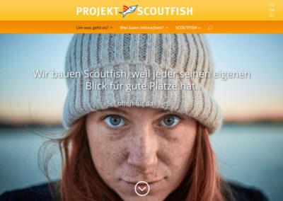 Relaunch der Scoutfish Projektseite