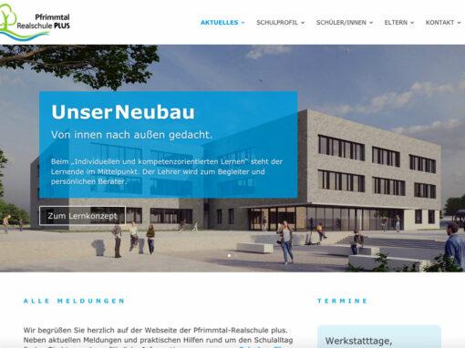Website der Pfrimmtal-Realschule plus