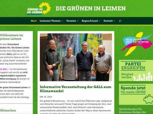 Website der Grünen in Leimen