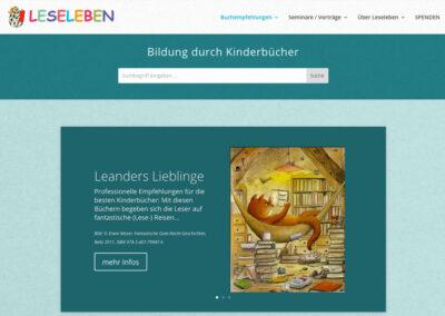 Leseleben e.V. – Relaunch der Homepage
